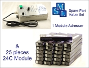 Addresser + Module Set 2 (24C), 1 adresser and 25 modules