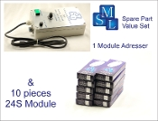 Addresser + Module Set 4 (24S) 1 adresser and 10 modules